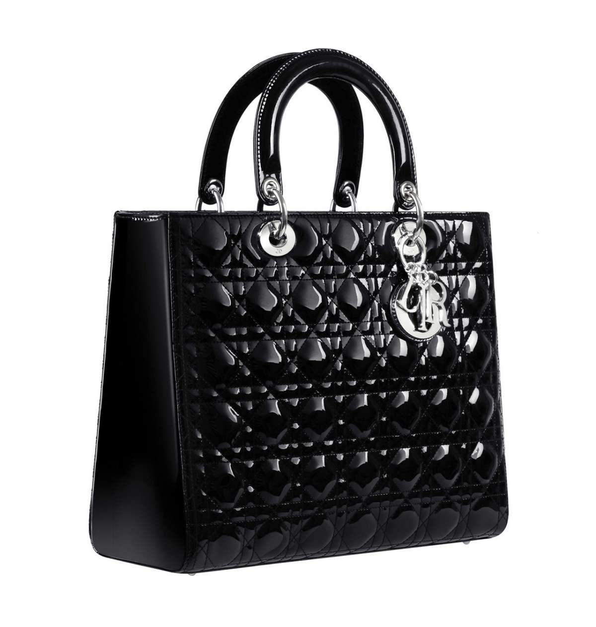 Lady Dior in vernice nera
