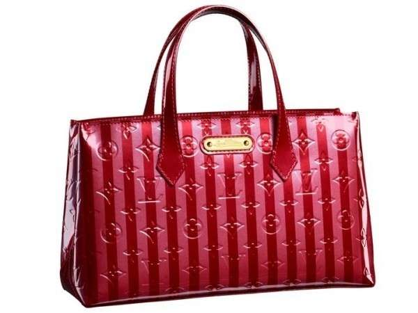Shopper Louis Vuitton Monogram Vernis Rayures Wilshire Pm