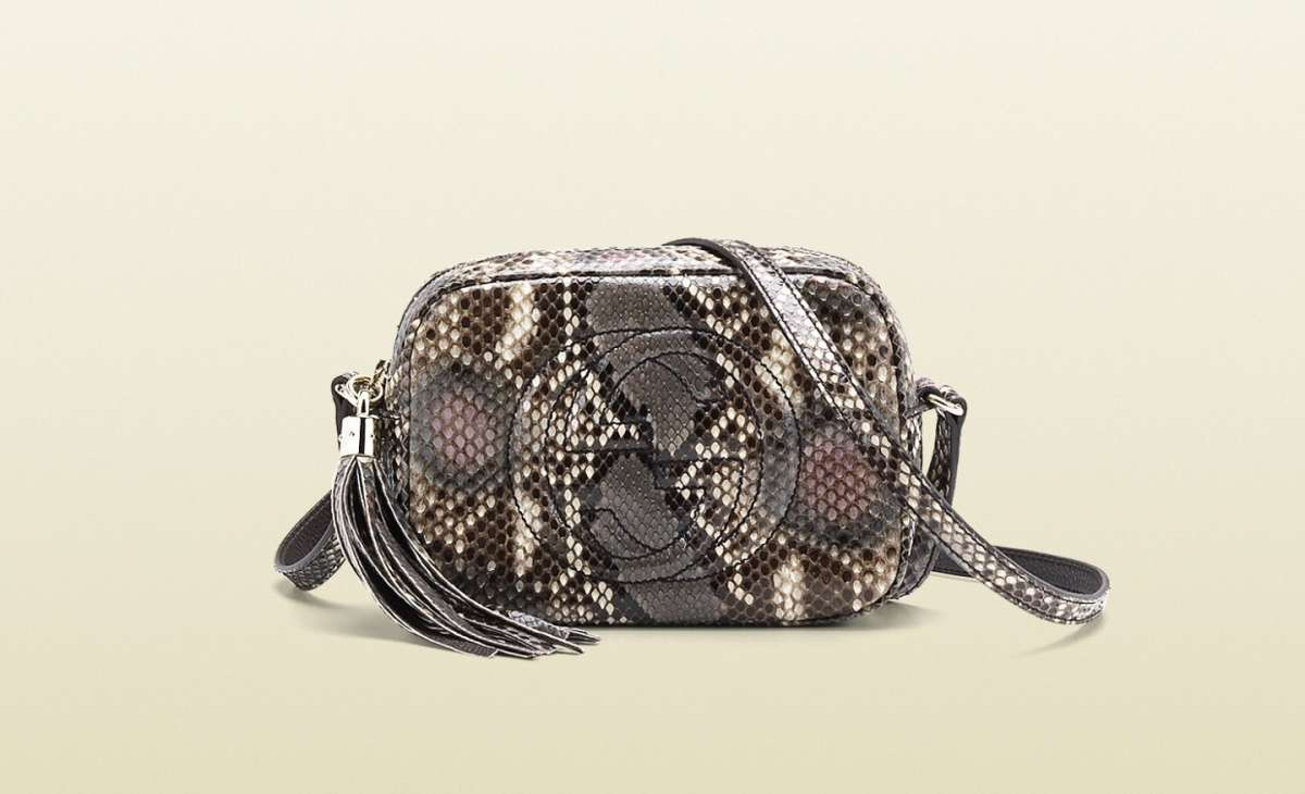 Disco Bag Soho Gucci in pitone