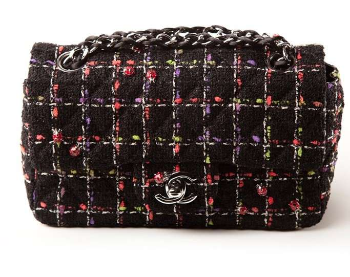 Tracolla Chanel in tweed multicolor dalla collezione primavera 2011