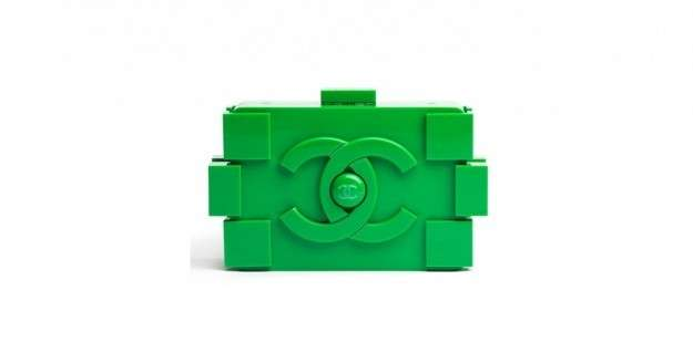 Boy Brick Clutch Chanel verde