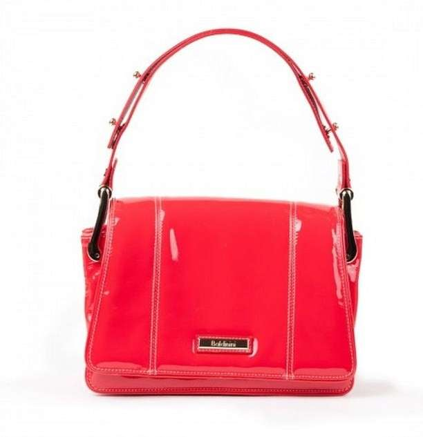 Shoulder bag Baldinini in vernice fragola