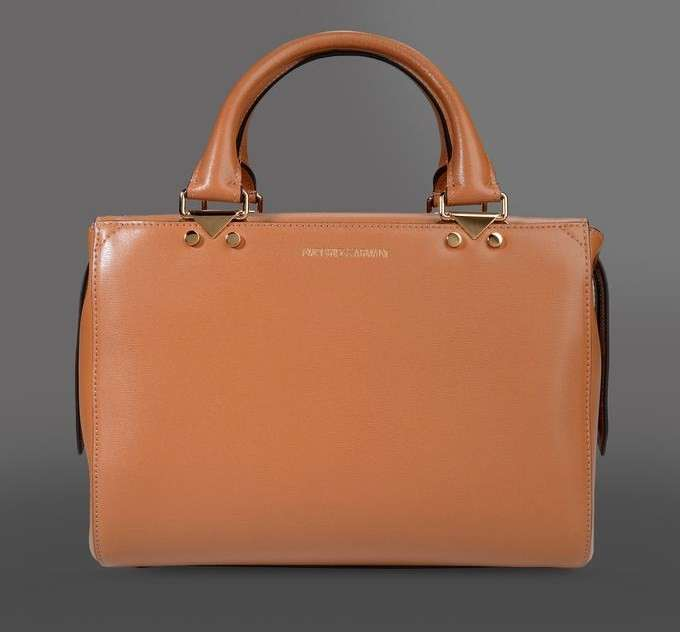 Handbag in pelle Emporio Armani orange