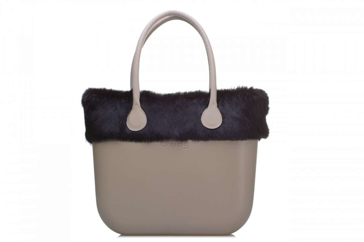 Handbag O bag by Fullspot in lapin nero
