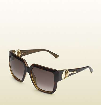 Sunglasses quadrati con morsetto