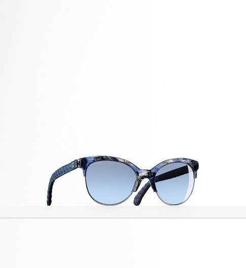 Pantos sunglasses blu Chanel