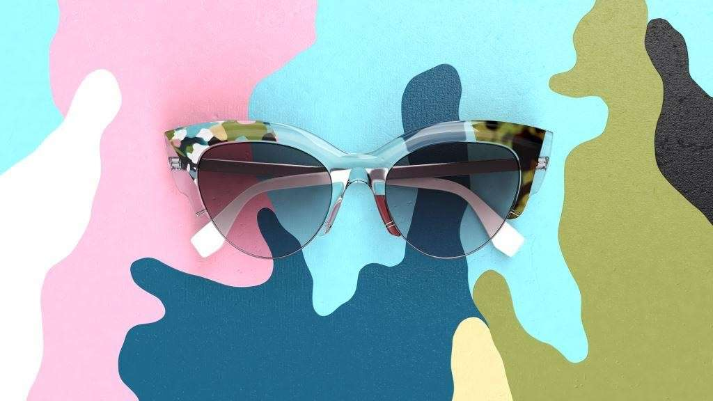 Cat eye sunglasses di Fendi
