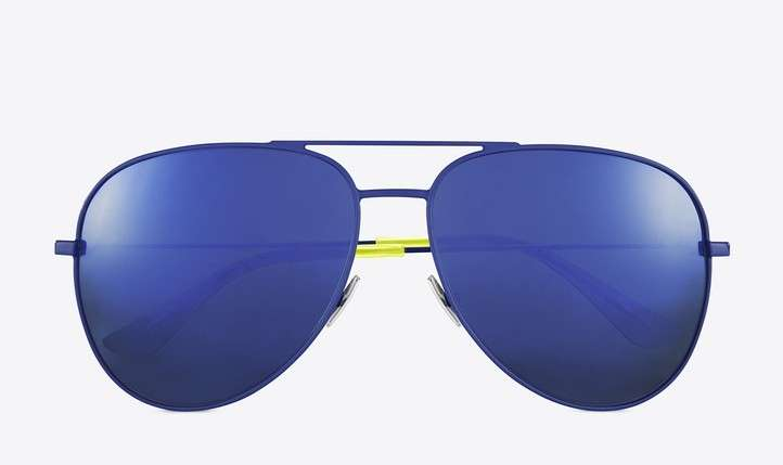 Occhiali da sole blu Saint Laurent