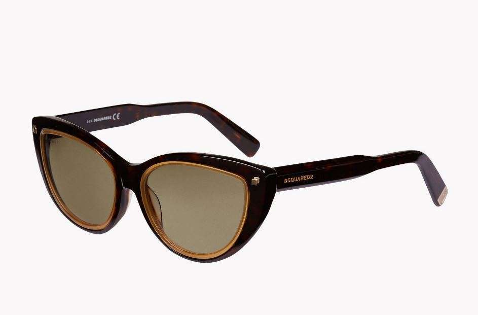 Occhiali cat-eye bordo oro Dsquared2