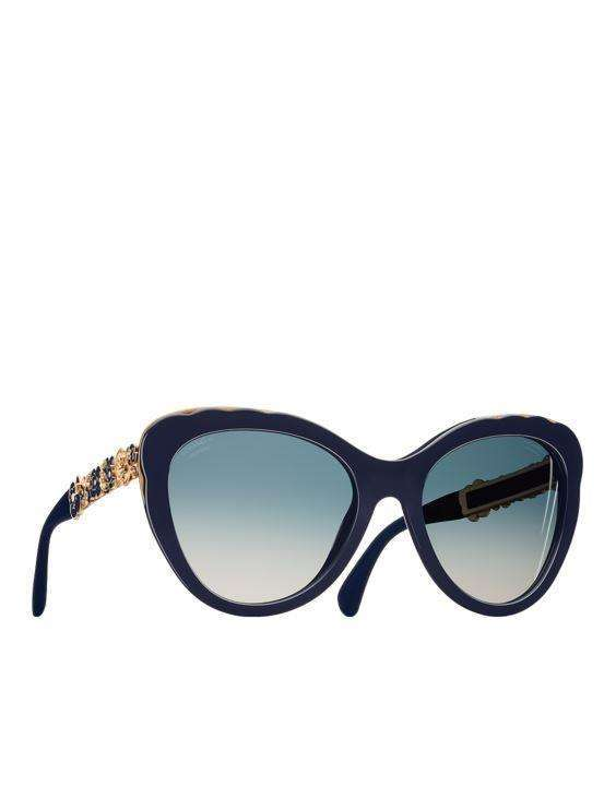 Occhiali cat eye Bijou blu Chanel