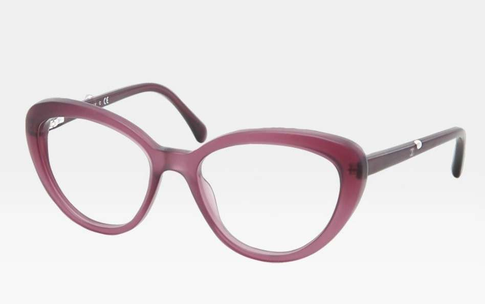 Occhiali oversize rosa cat eye