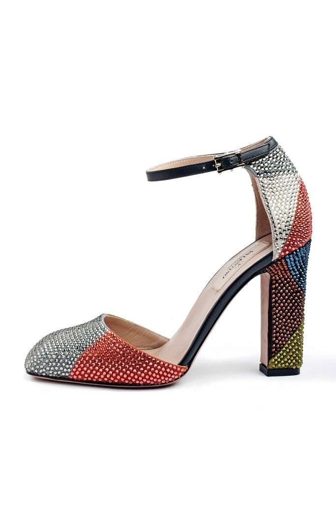 Mary jane con strass multicolor Valentino