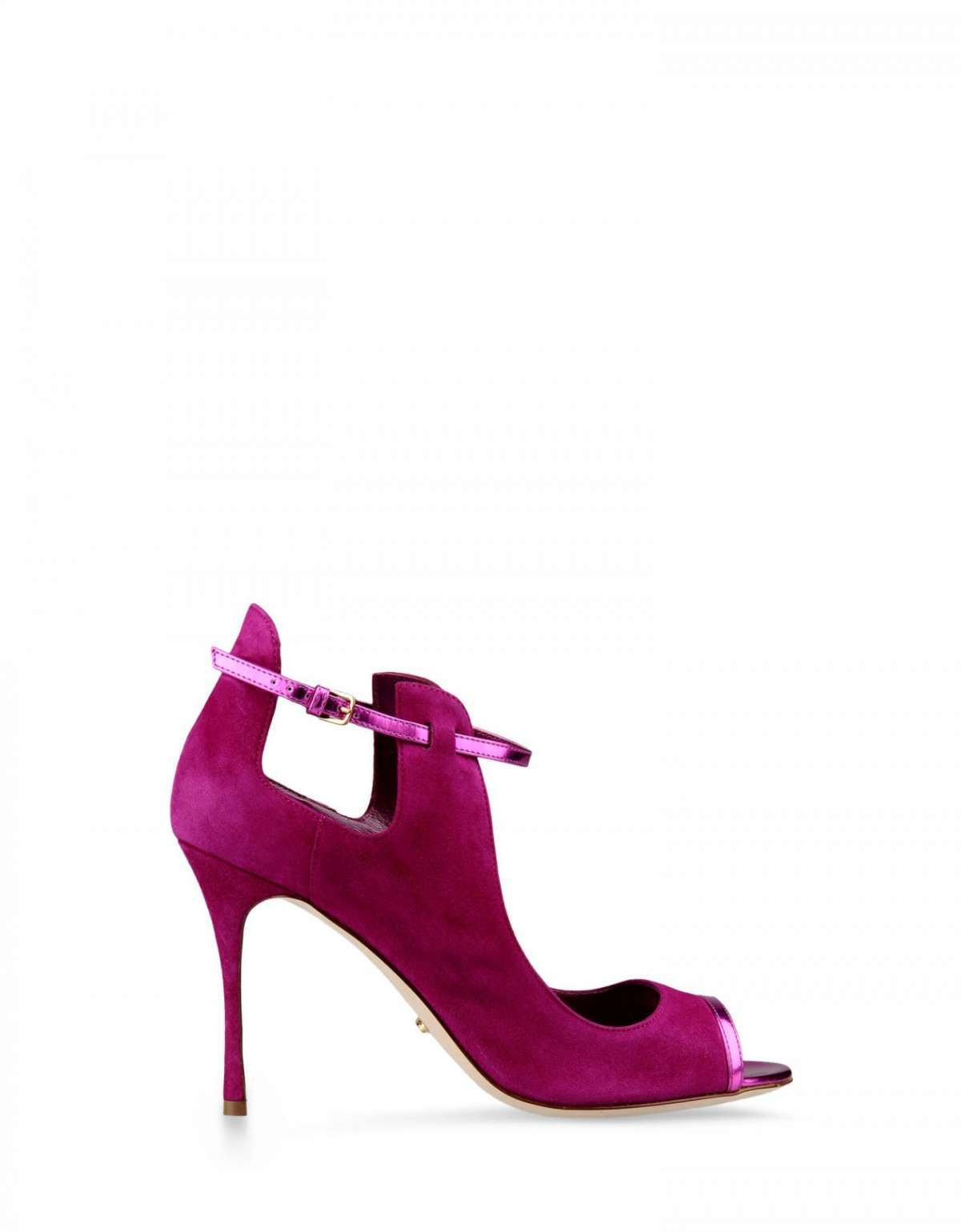 Ankle boot magenta