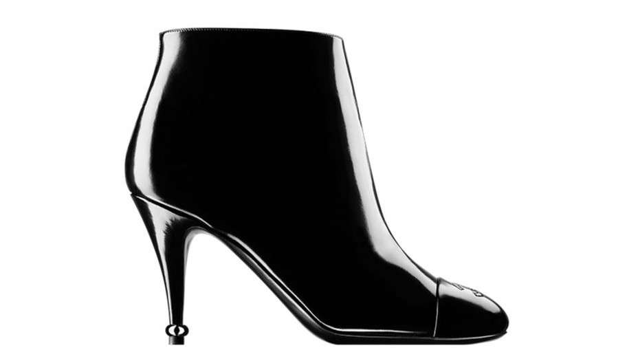 Ankle boot neri in vernice Chanel