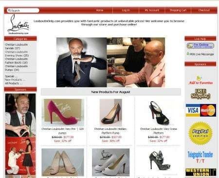 louboutinonly.com home page