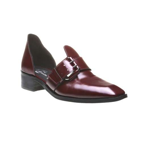 Ankle boot cut-out Bata bordeaux
