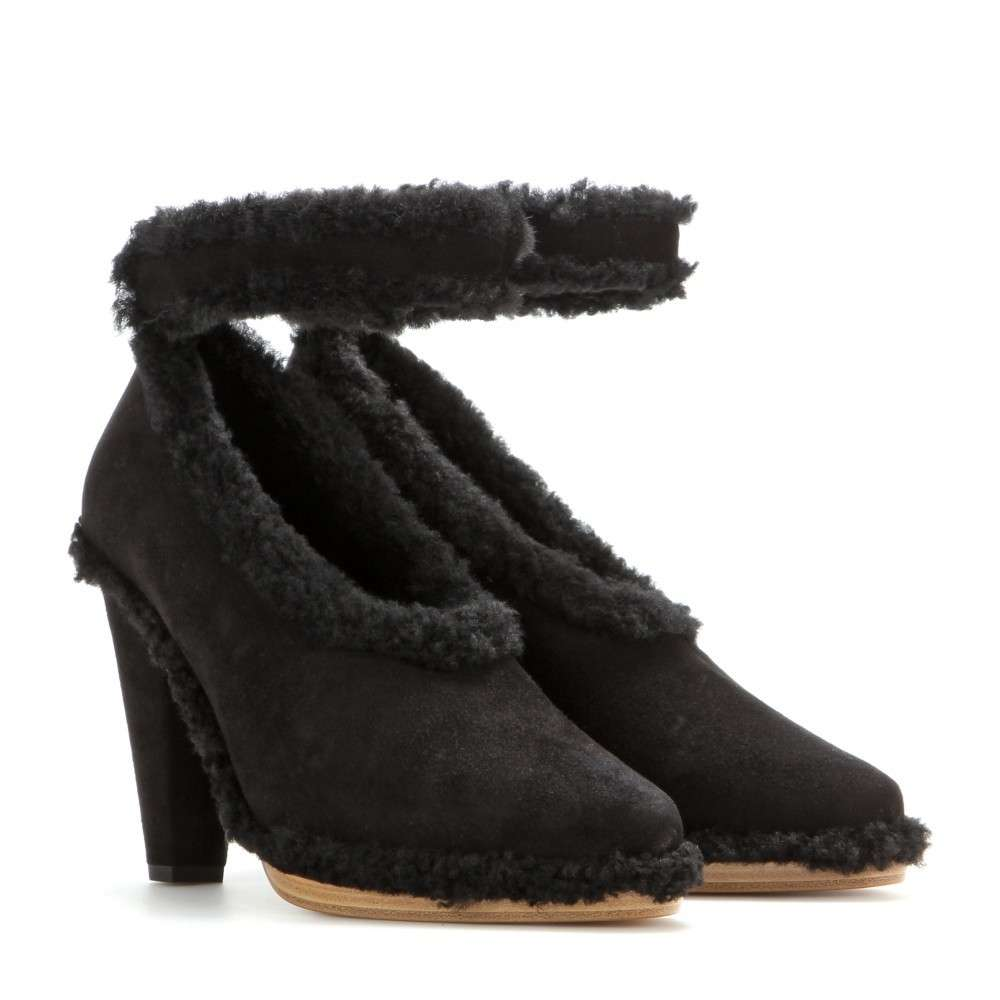 Pumps in suede e shearling