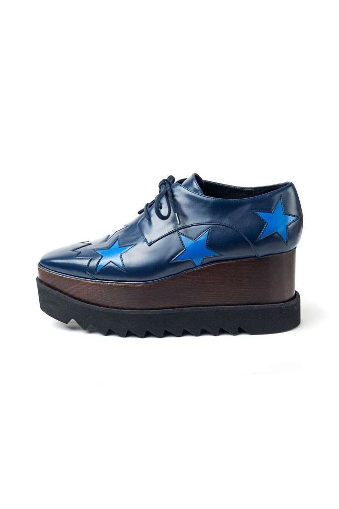 Creepers Stella McCartney blu con stelle