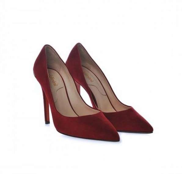 Pumps in camoscio Baldinini bordeaux