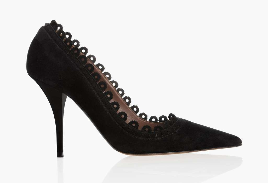 Pumps nere in suede