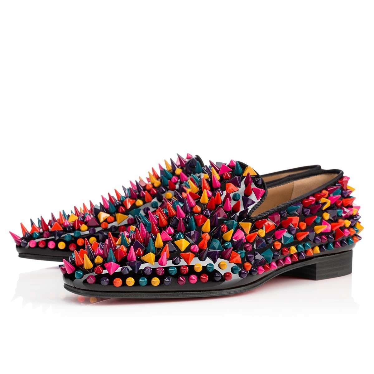 Slippers con borchie a punta Christian Louboutin
