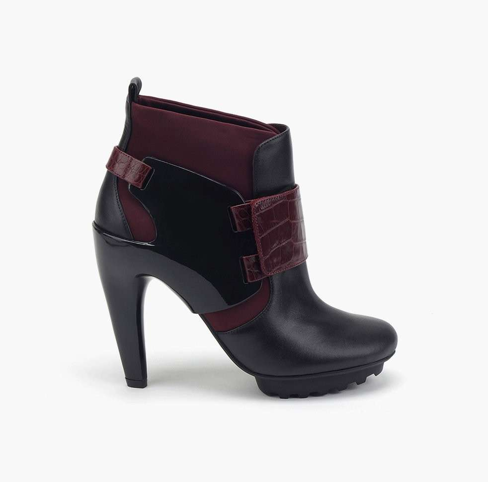 Ankle boots burgundy e neri United Nude