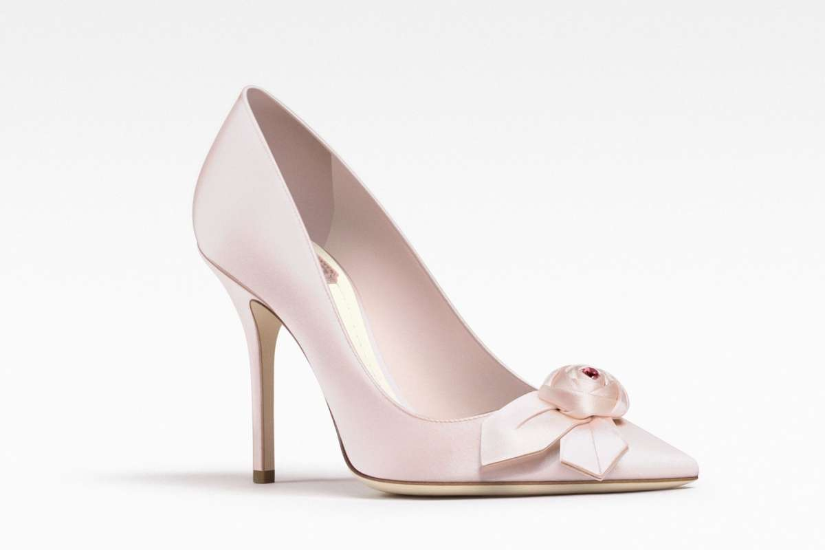 Pumps in satin Dior