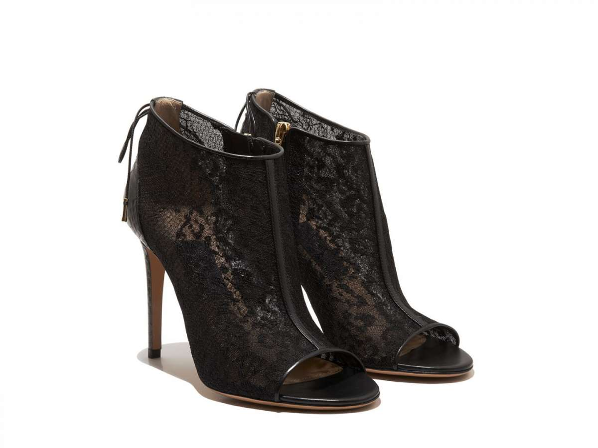 Ankle boot in pizzo