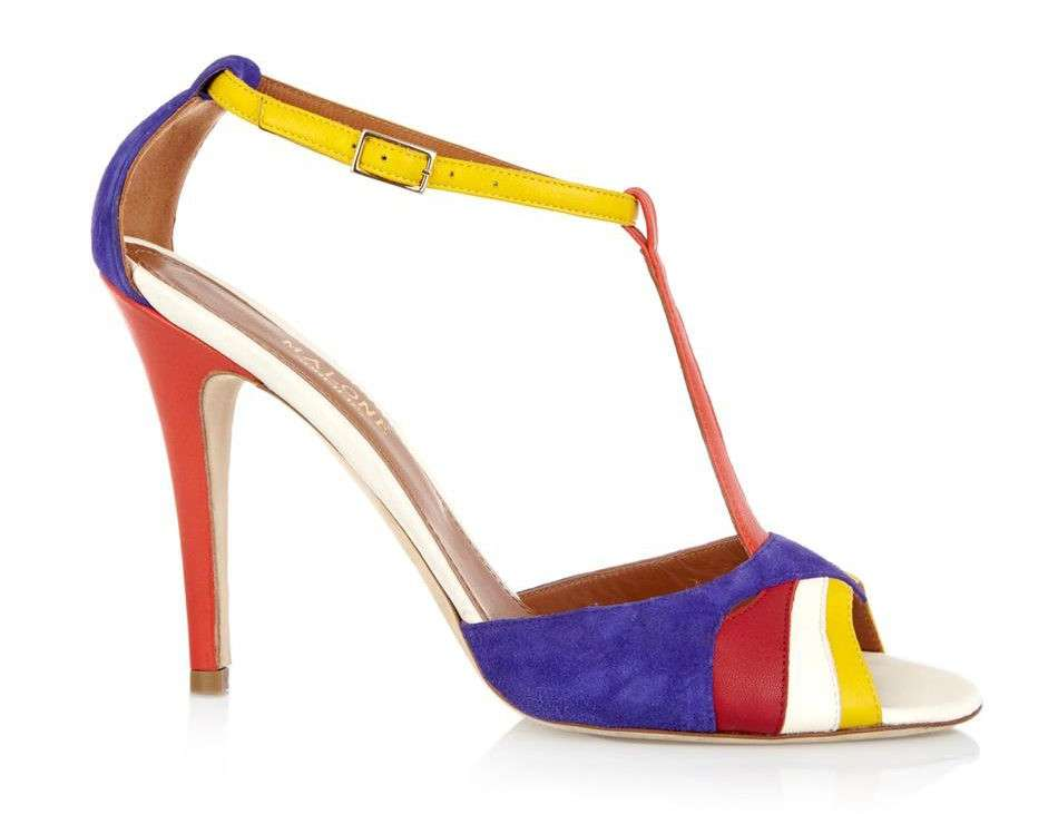 Sandali in color block Malone Souliers