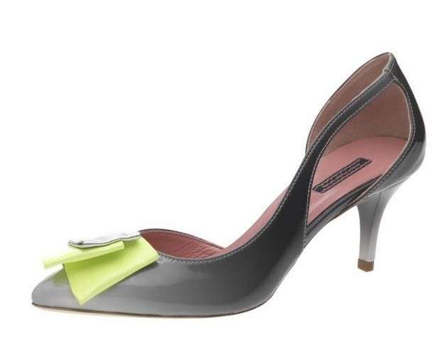 Pumps cut out Fornarina grigie