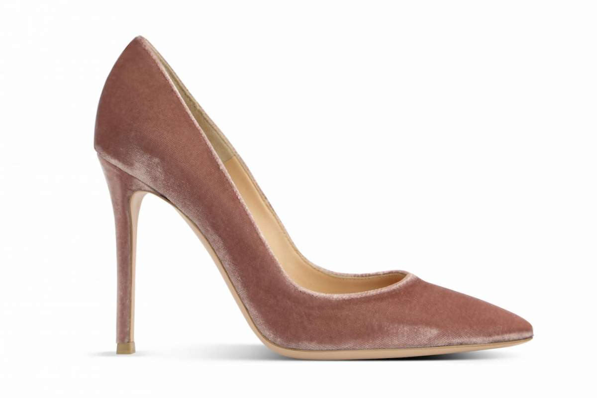 Pumps in velluto Gianvito Rossi