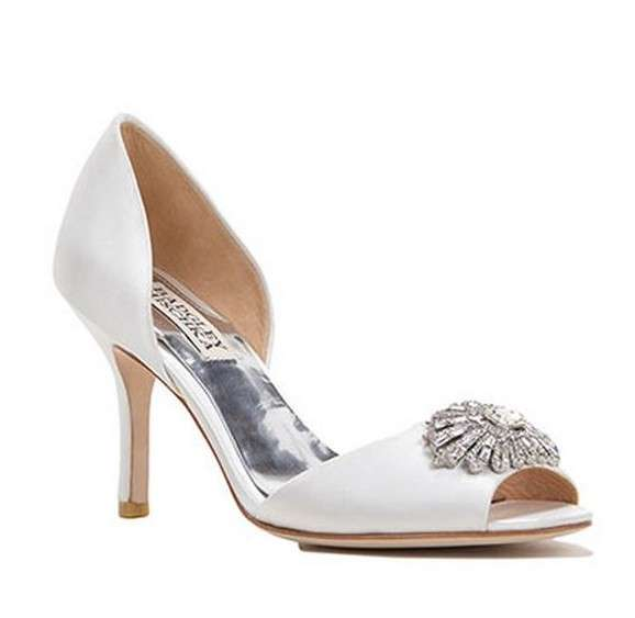 Peep toe bianche Badgley Mischka