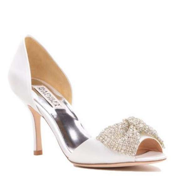 Peep toe cipria Badgley Mischka