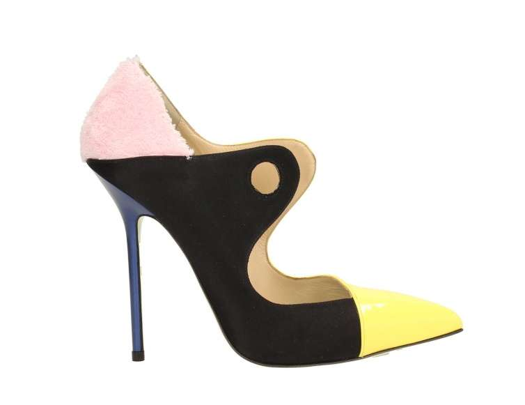 Pumps sagomate color block