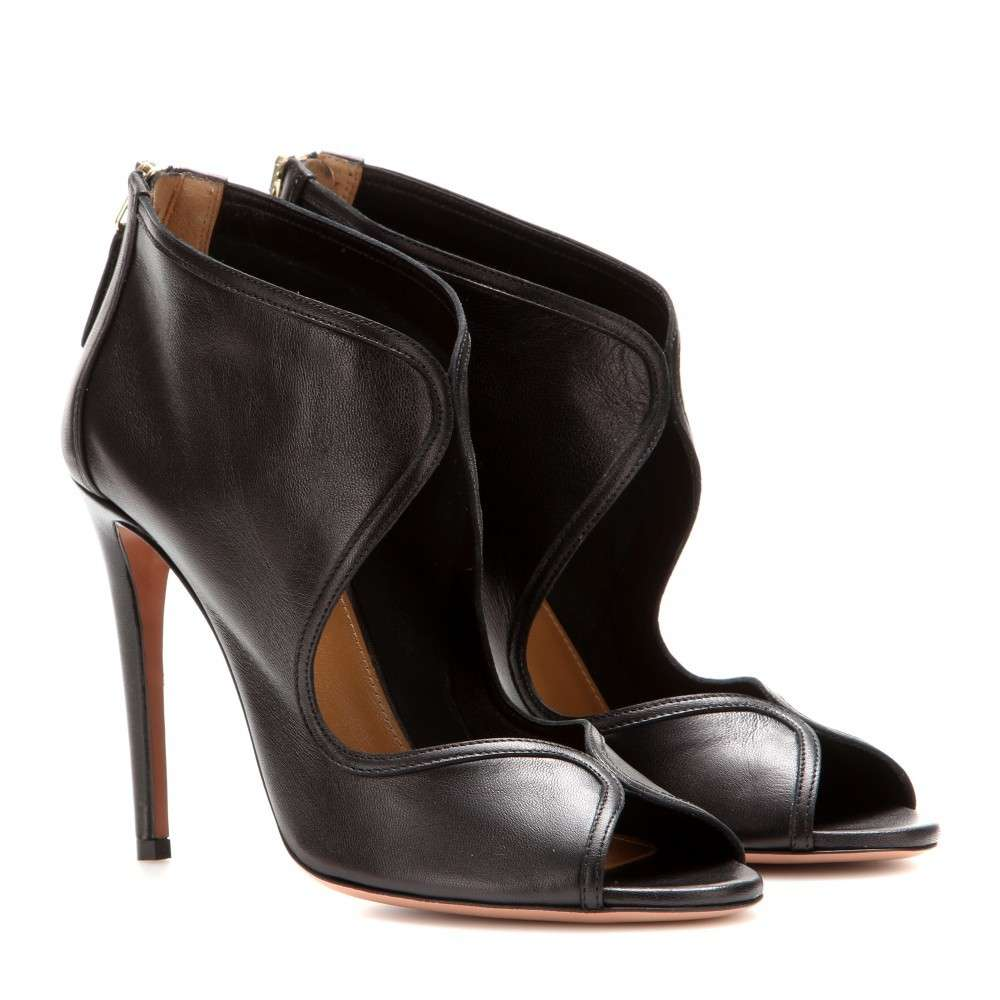 Ankle boot in pelle nera