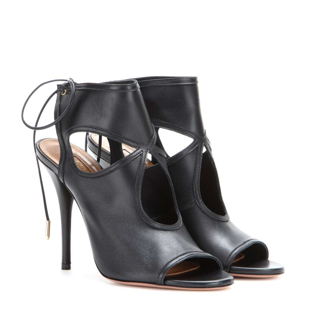 Ankle boot Aquazzura open toe neri