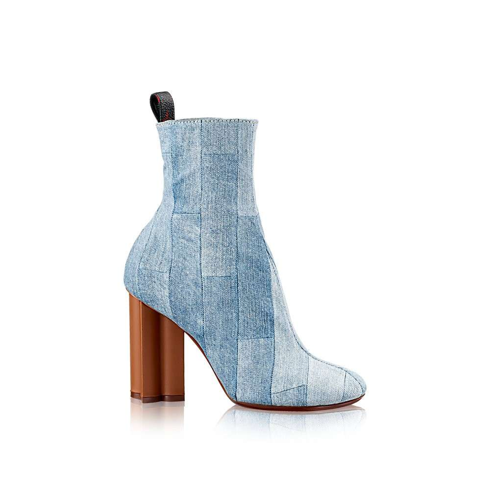Ankle boot Louis Vuitton in denim