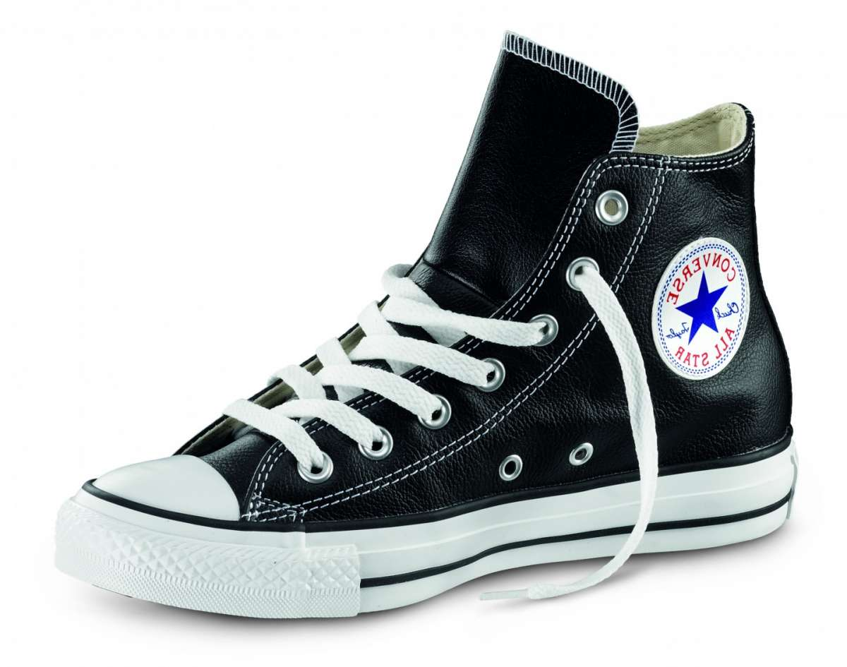 all star converse pelle nere