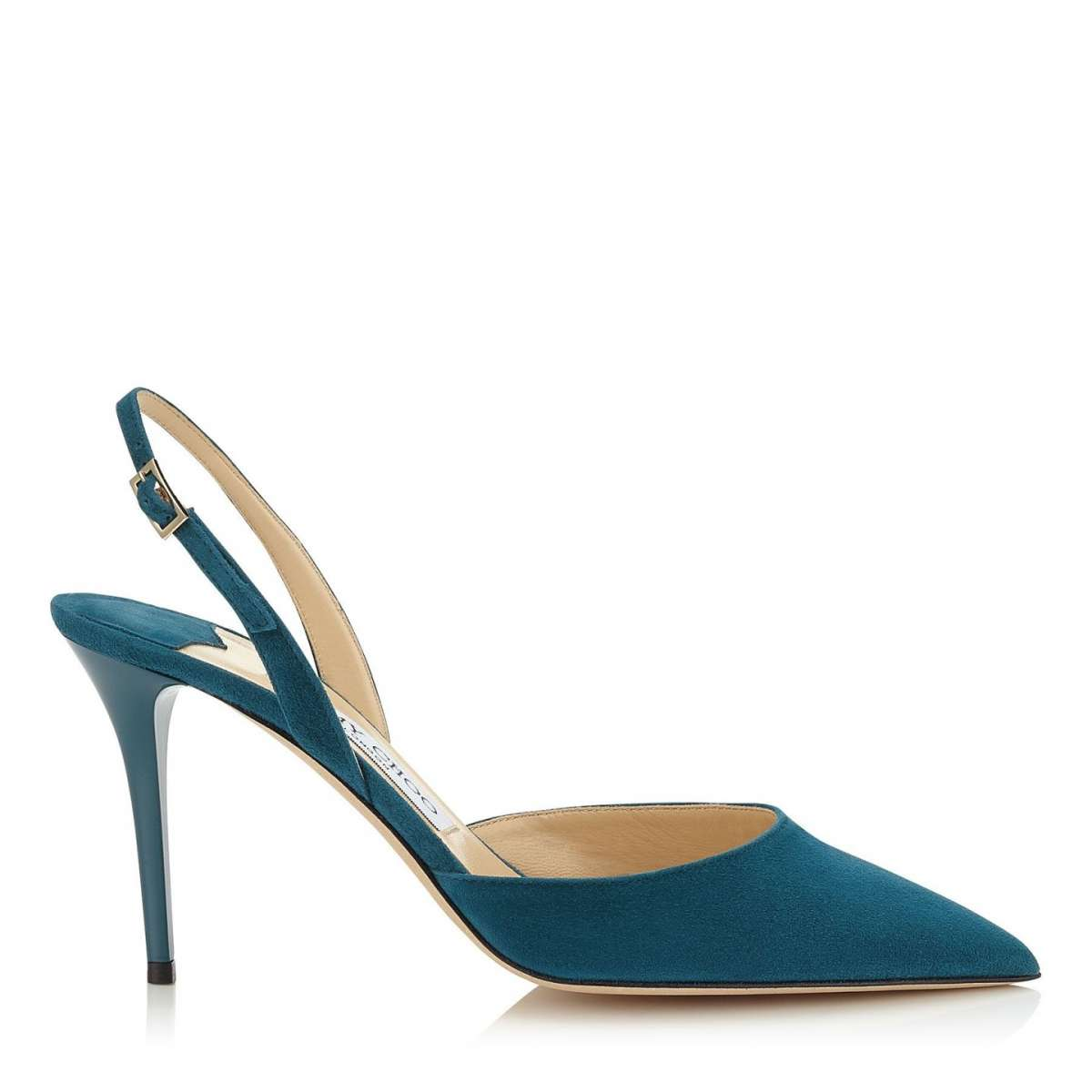 Slingback in suede Jimmy Choo blu