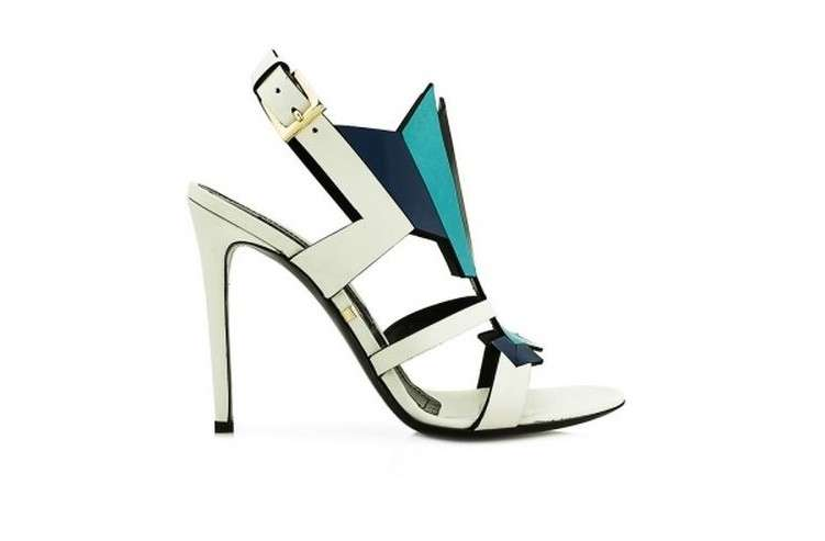 Sandali in color block Gianmarco Lorenzi