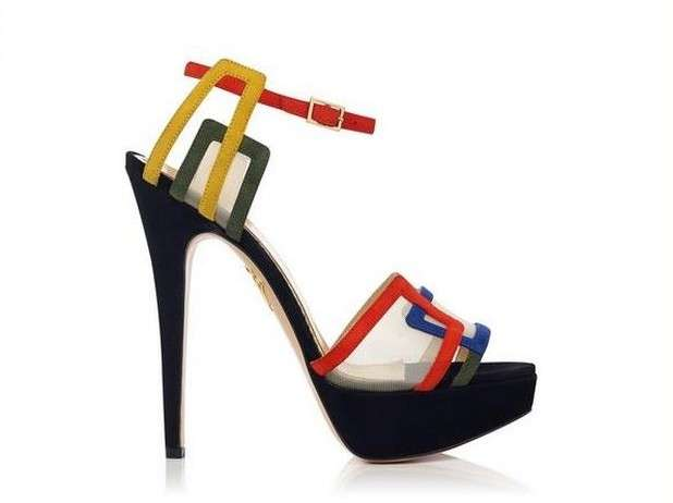 Sandali in color block Charlotte Olympia