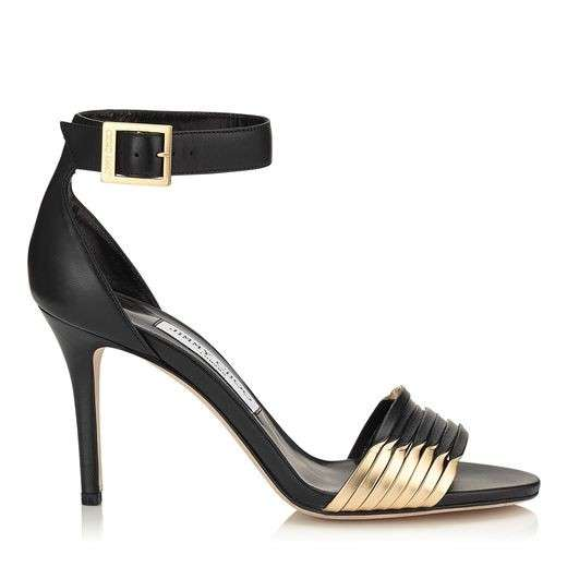 Black Nappa Sandals Jimmy Choo