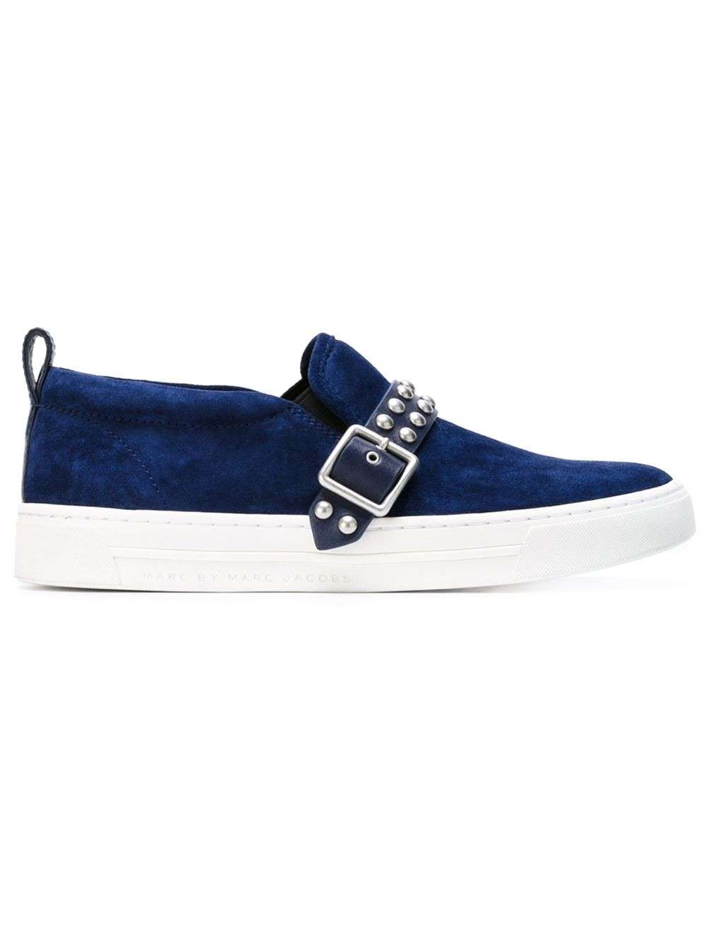 Slip on blu con fibbia borchiata Marc by Marc Jacobs