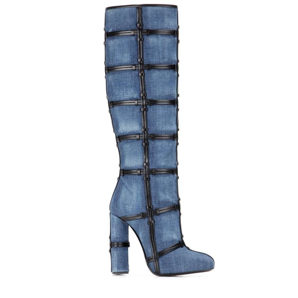 Patchwork Knee Boots Tom Ford