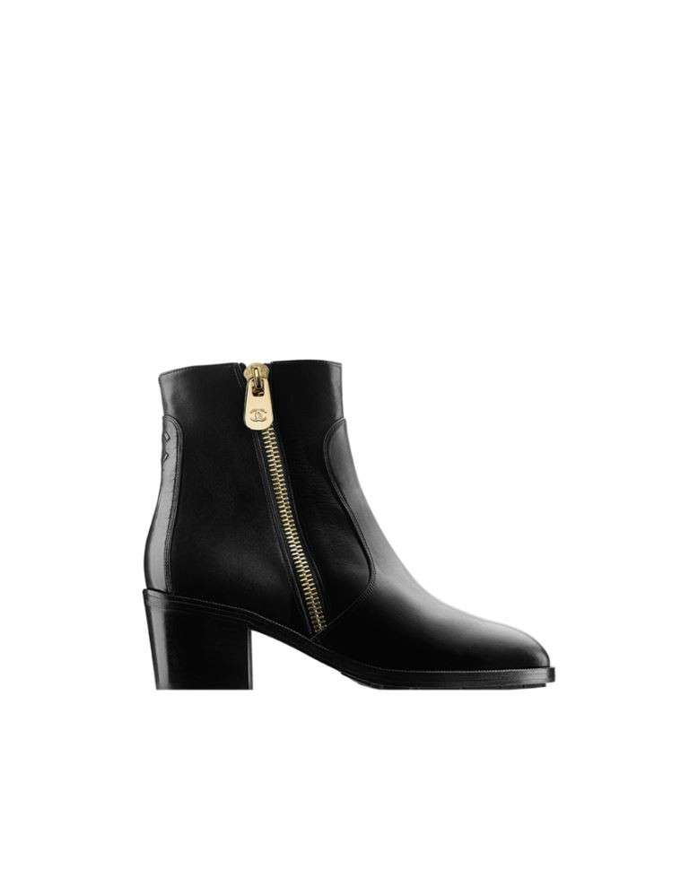 Ankle boot neri con zip