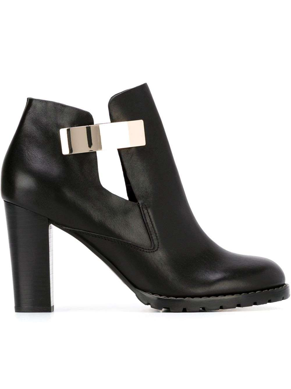 Ankle boots cut out See by Chloè