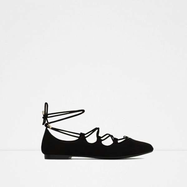 Ballerine lace up nere Zara