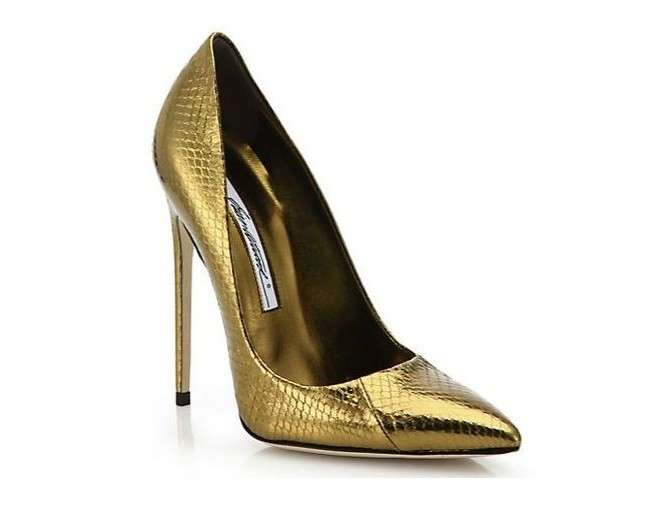 Pumps oro Brian Atwood