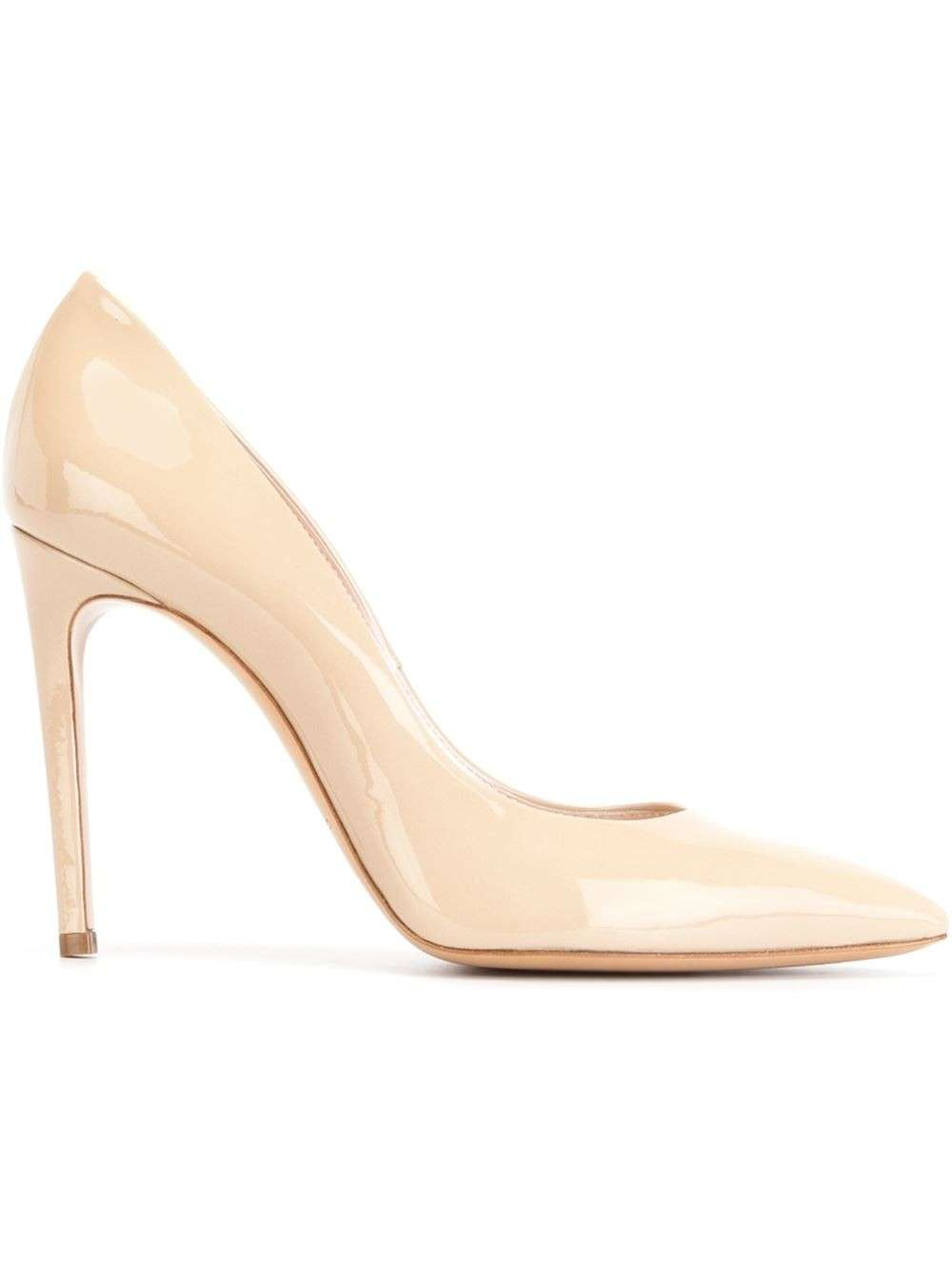 Pumps nude chiare in vernice Casadei
