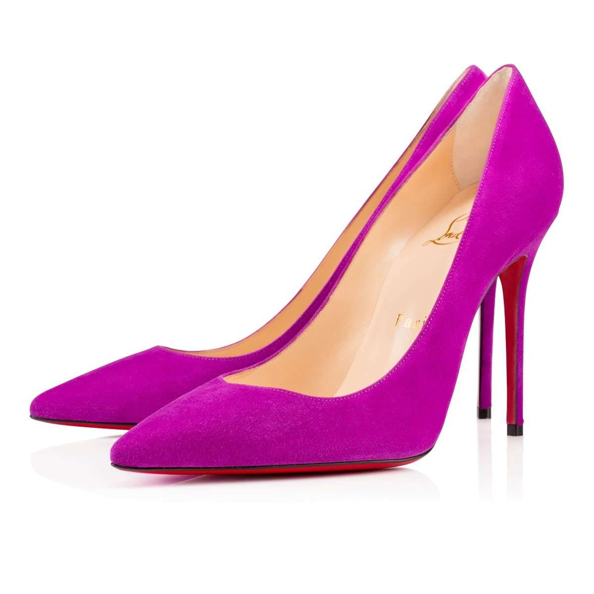 Pumps in suede viola